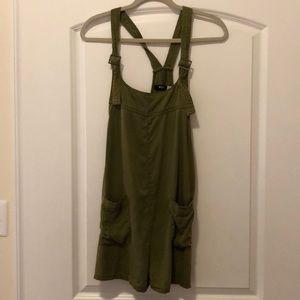 BDG Olive Green Short Overalls